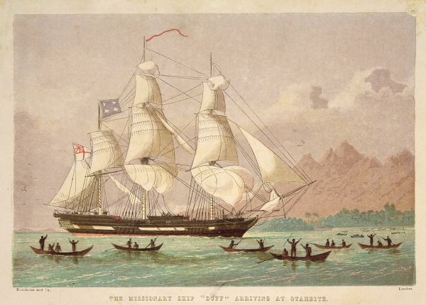 The_missionary_ship__Duff__arriving_at_Otaheite